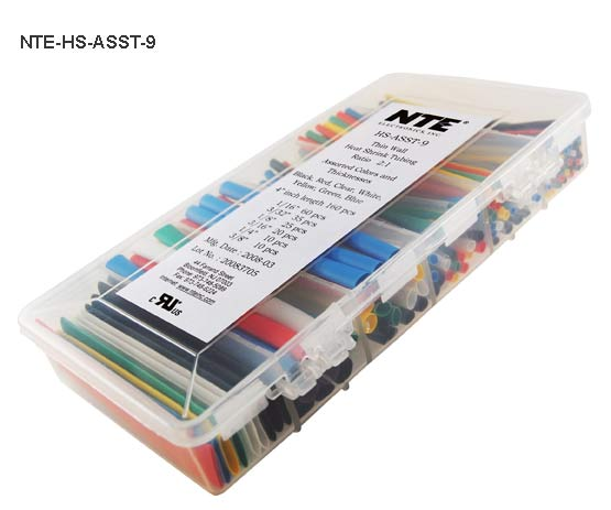 assorted color 2 to 1 shrink tubing kit in closed case - icon