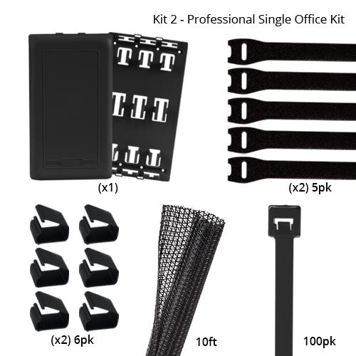 professional single office organization kit components - icon