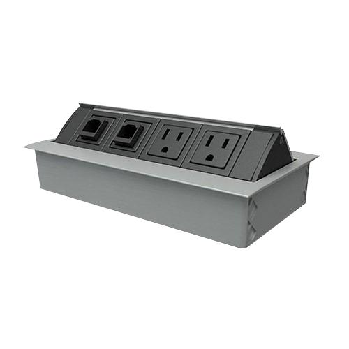 Ohm 2 Power / 2 Open Data Aluminum with Black Trim
