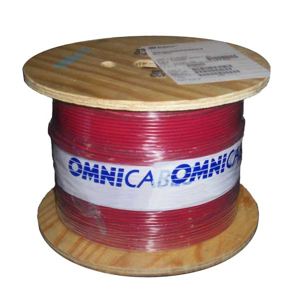 Omni Cable Electrical Hook Up Wire in red on spool - icon