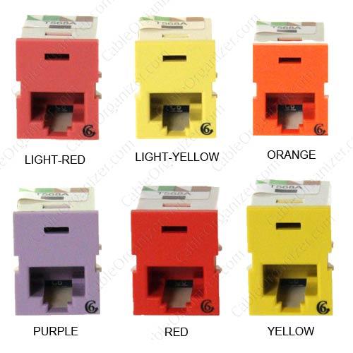 Ortronics Cat6 angled TracJack colors