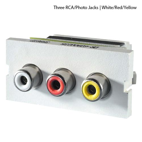 rca/phono jacks with 110 IDC termination
