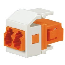 Netkey Keyed Duplex LC Adapter Module (E-Orange) w/Zirconia Split Sleeves