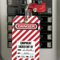 No-Tool I-Line Circuit Breaker Lockout Device, Red