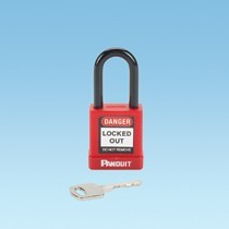 Red Plastic Body Padlock