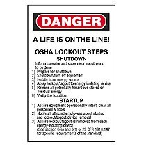 Lockout/Tagout Steps/Calendar Wallet Card, 2.13
