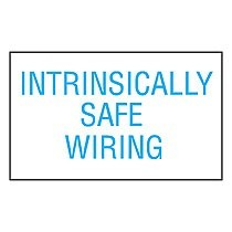 Label Dispenser, Polyester, 'Intrinsically Safe Wiring', 200 pc/disp, BU/WH