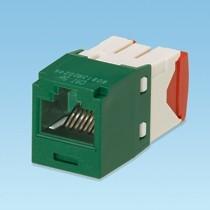 Mini-Com Module, Cat 5e, UTP, 8 pos 8 wire, Universal, Green, TG Style