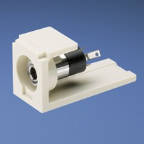 Stereo Connector, 3.5mm, White