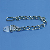 Heavy Duty Zinc Plated Padlock Chain Attachment, 9