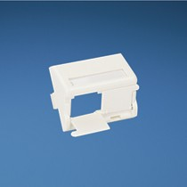 Insert, 2 Port, Sloped Shuttered with Labels, Off White Qty: 10