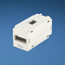 Mini-Com® USB 2.0 Female A/Female A Coupler - Off White