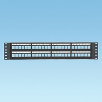 NetKey™ 48 port all molded modular patch panel with molded in numbering