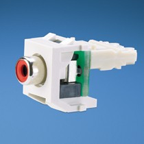 NK RCA Module, Punchdown, Red Insert, Off White