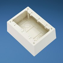 3-Gang Junction Box, Non-Metallic, Electric Ivory