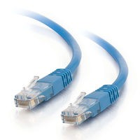 75ft Cat5e Molded Solid Unshielded (UTP) Network Patch Cable - Blue