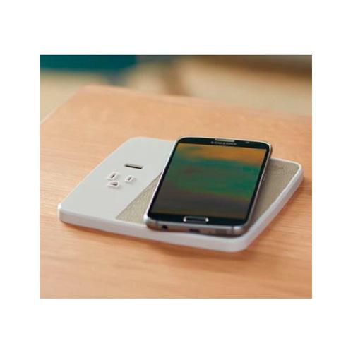 wireless desk outlet charging grommet
