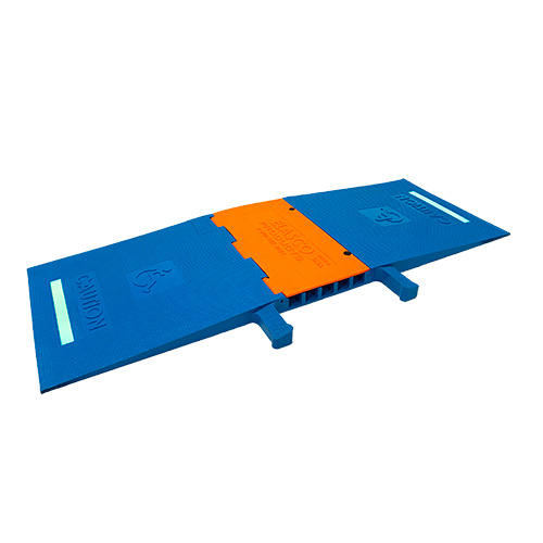 Glow in the Dark Blue and orange ADA Ramp