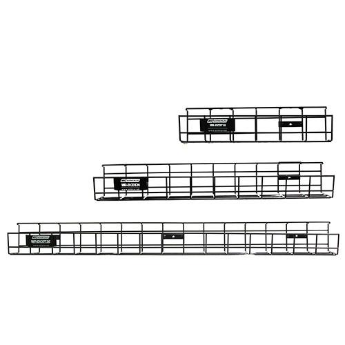 Under Desk Cable Tray sizes comparison