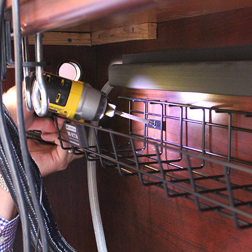 Desk Cable Organizer in Use