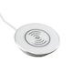 white in desk wireless charger grommet