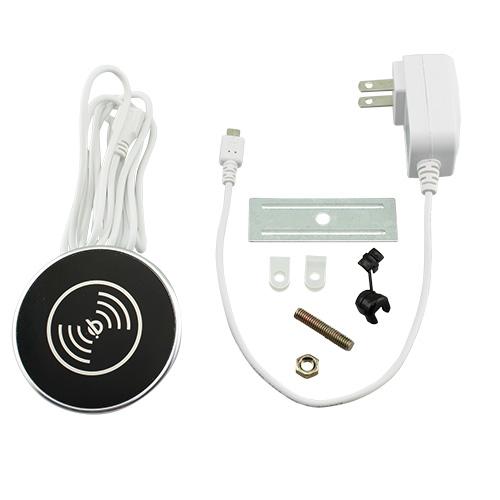 Black in desk wireless charger grommet kit
