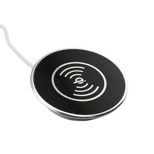 Black in desk wireless charger grommet