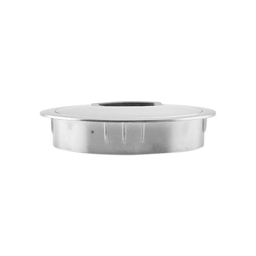 Polished Chrome Metal Grommet side view