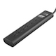 Black 6 outlet wirerun surge protector