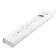 white 6 outlet wirerun surge protector
