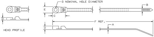 schematic of PanTy cable ties