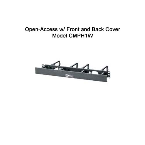 Panduit Open Access Horizontal D-ring Cable Manager with front and back cover cmph1w - icon
