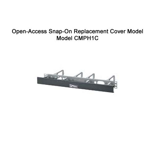 Panduit Open Access Horizontal D-ring Cable Manager snap on replacement cover model cmph1c - icon