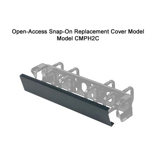 Panduit Open Access Horizontal D-ring Cable Manager snap on replacement cover model cmph2c - icon