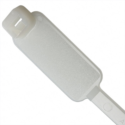 close up of PANDUIT Pan-Ty PLF Series marker Tie Cable Tie in clear - icon