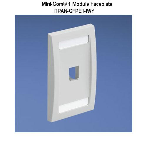 panduit mini-com 1 module faceplate - icon