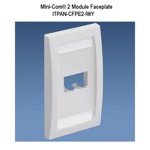 panduit mini-com 2 module faceplate - icon