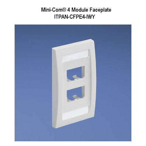 panduit mini-com 4 module faceplate - icon