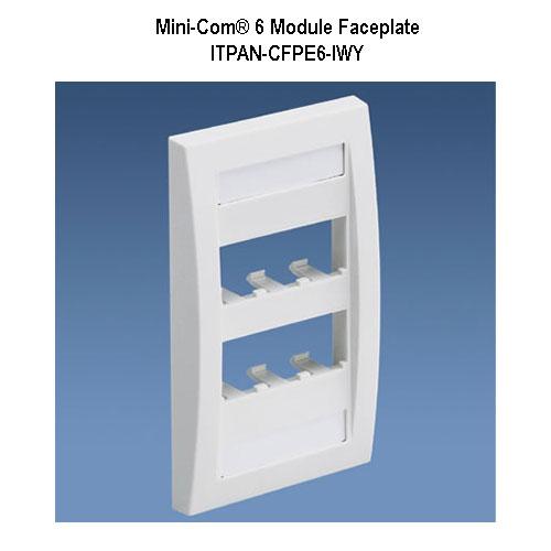 panduit mini-com 6 module faceplate - icon