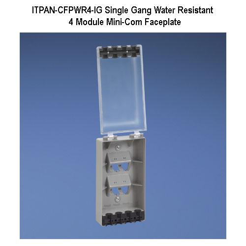 panduit mini-com 4 module single gang water resistant faceplate - icon