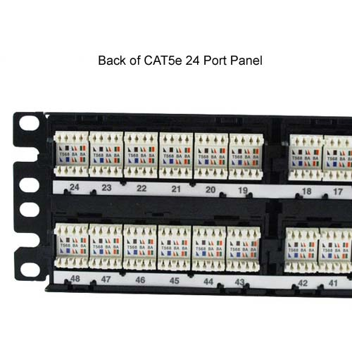 rear view of Panduit DP5e PLUS 24 port Patch Panel