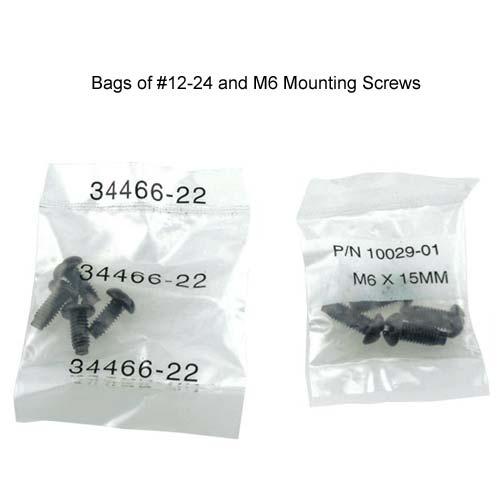 panduit 12-24 and m6 mounting screws in bags