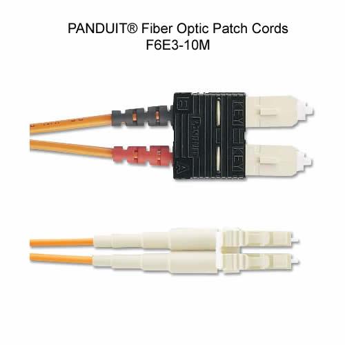 close up of panduit f6e3-10m fiber optic patch cord - icon