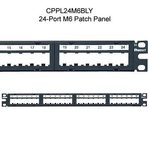 Panduit® Mini-Com® M6 Style Modular Faceplate Patch Panels