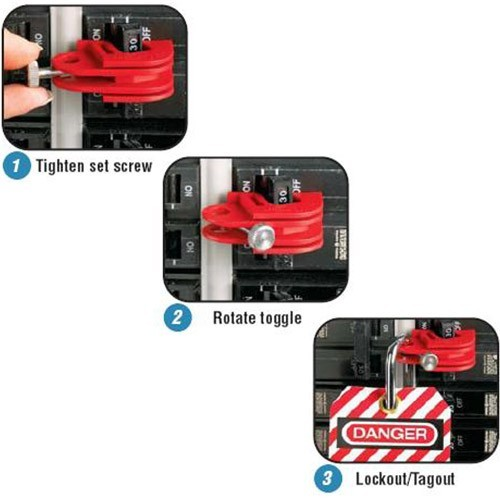 how to install panduit no tool circuit breaker lockout - icon