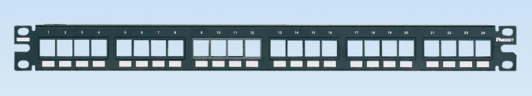 Panduit NetKey® Flush Mount Modular Patch Panels  PAN-NKPP24FMY