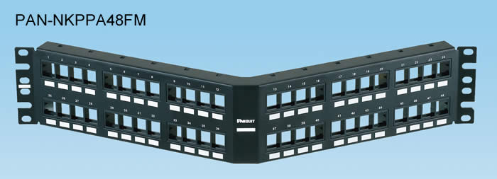 Panduit NetKey® Flush Mount Modular Patch Panels  PAN-NKPPA48FMY