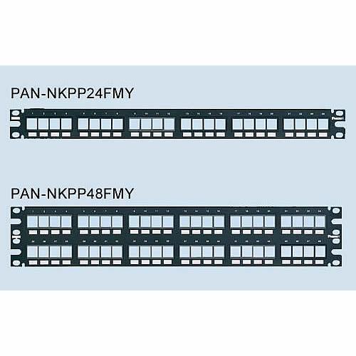 Panduit NetKey Flush Mount Modular Patch Panels models nkppa24fmy and nkppa48fmy - icon