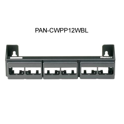 Panduit Mini-Com 12-Port Modular Faceplate Patch Panel model cwpp12wbl - icon