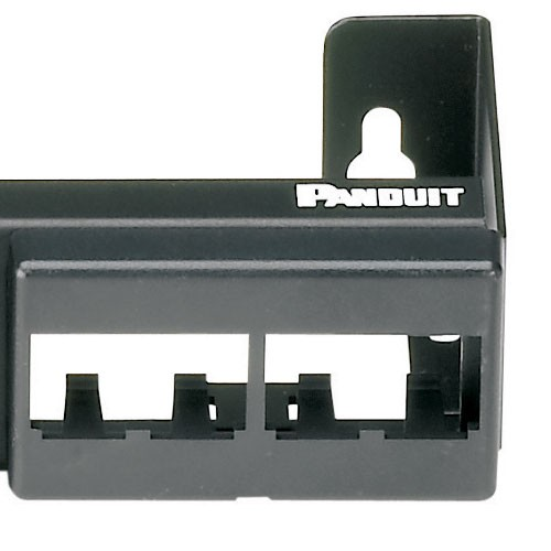 close up of Panduit Mini-Com 12-Port Modular Faceplate Patch Panel - icon